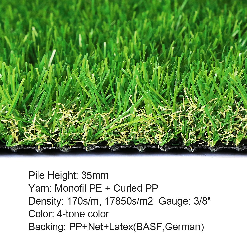 SunVilla SV7'X13' Realistic Indoor/Outdoor Artificial Grass/Turf 7 FT X 13 FT (91 Square FT) by SunVilla (Image #2)