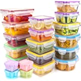 Food Storage Containers with Lids, [20 Pack] Plastic Food Containers Set Leak Proof & BPA-Free Reusable Lunch Boxes…