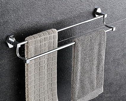 Toallero De espesor con todo el cobre de la toalla del estante de toalla del doble