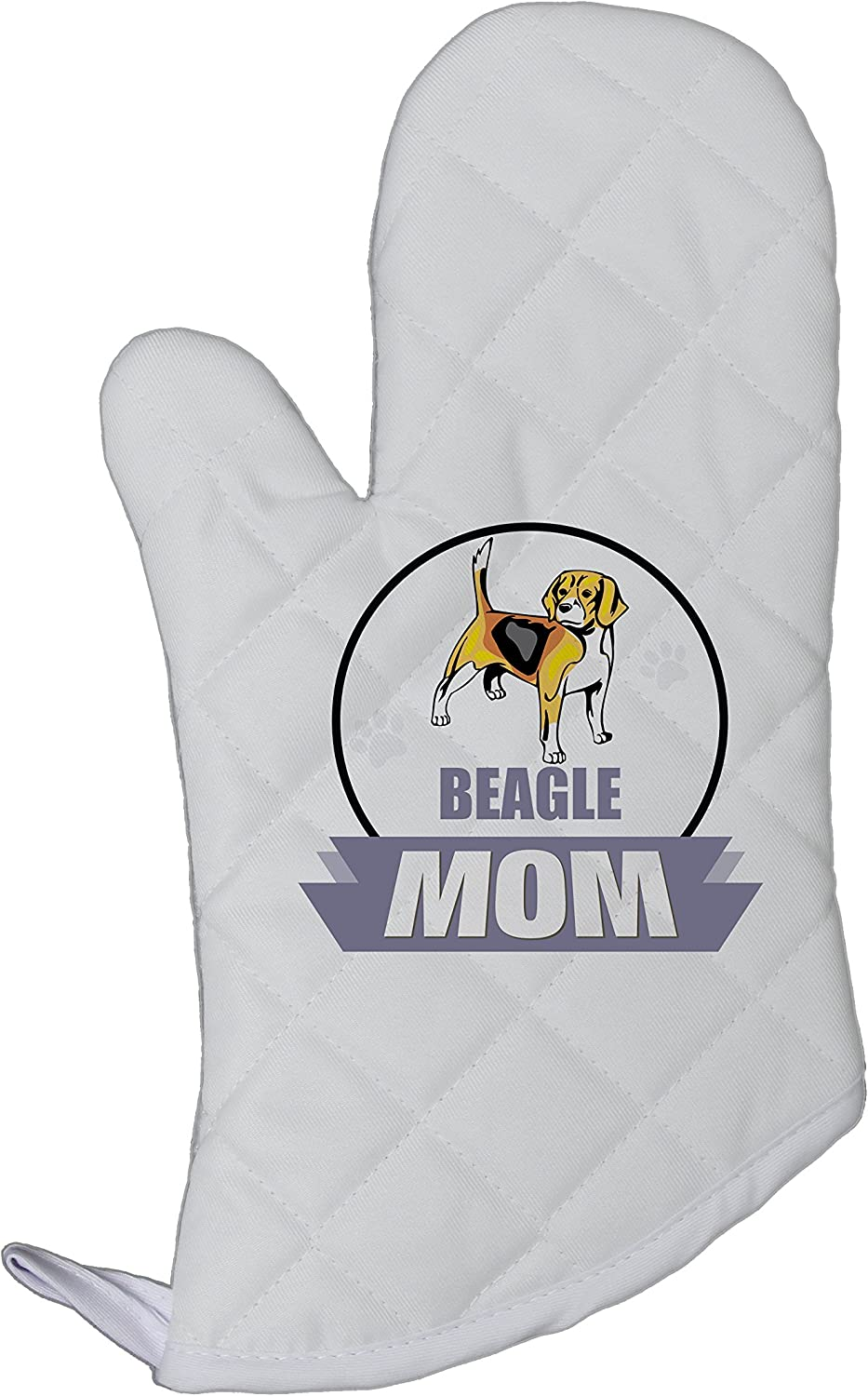 Style In Print Beagle Dog MOM Kitchen Bar Chef Oven Mitt Heat Resistant