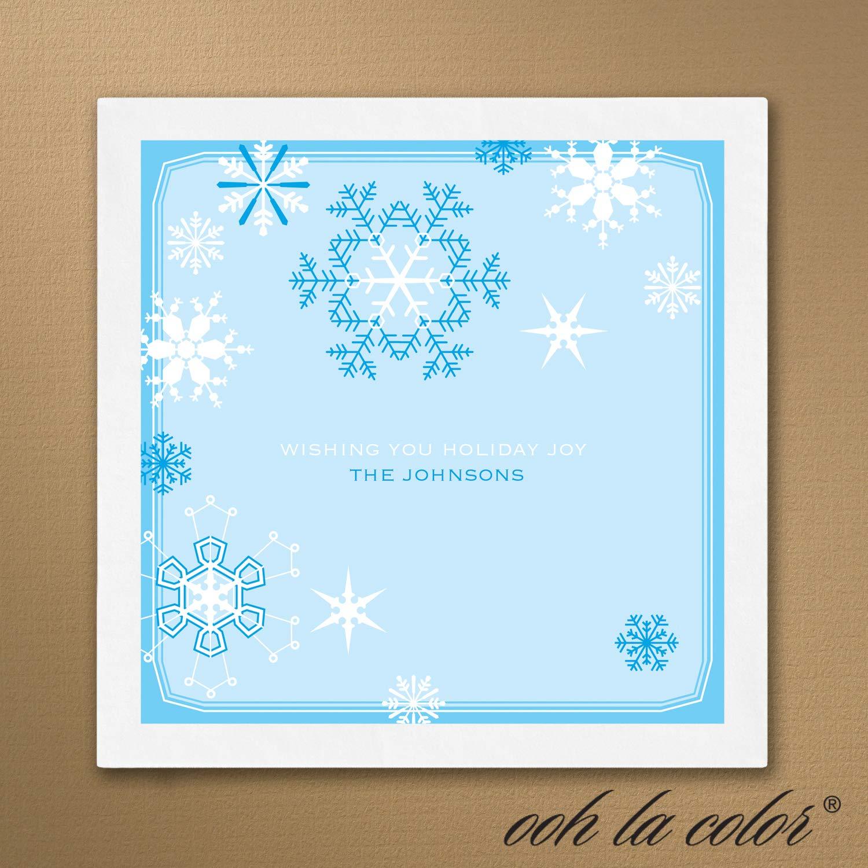 500pk Snowflake Napkin-Personalized Napkins