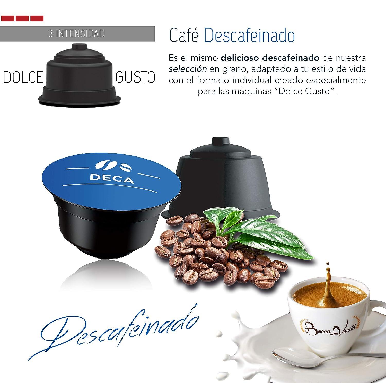 Café cápsula DESCAFEINADO Dolce Gusto compatible | 96 Cápsulas Bocca Della Verità. Café Italiano de Calidad Superior.: Amazon.es: Alimentación y bebidas