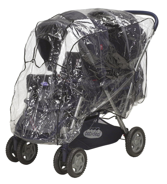Playshoes 448941.0 Regenverdeck, Regenschutz, Regenhaube für Geschwisterwagen, Tandemwagen mit Kontaktfenster, transparent MOLEO Sp.z o.o.