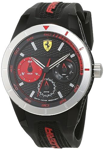 Reloj Scuderia Ferrari para Hombre 0830254, Negro (Negro/Plateado)