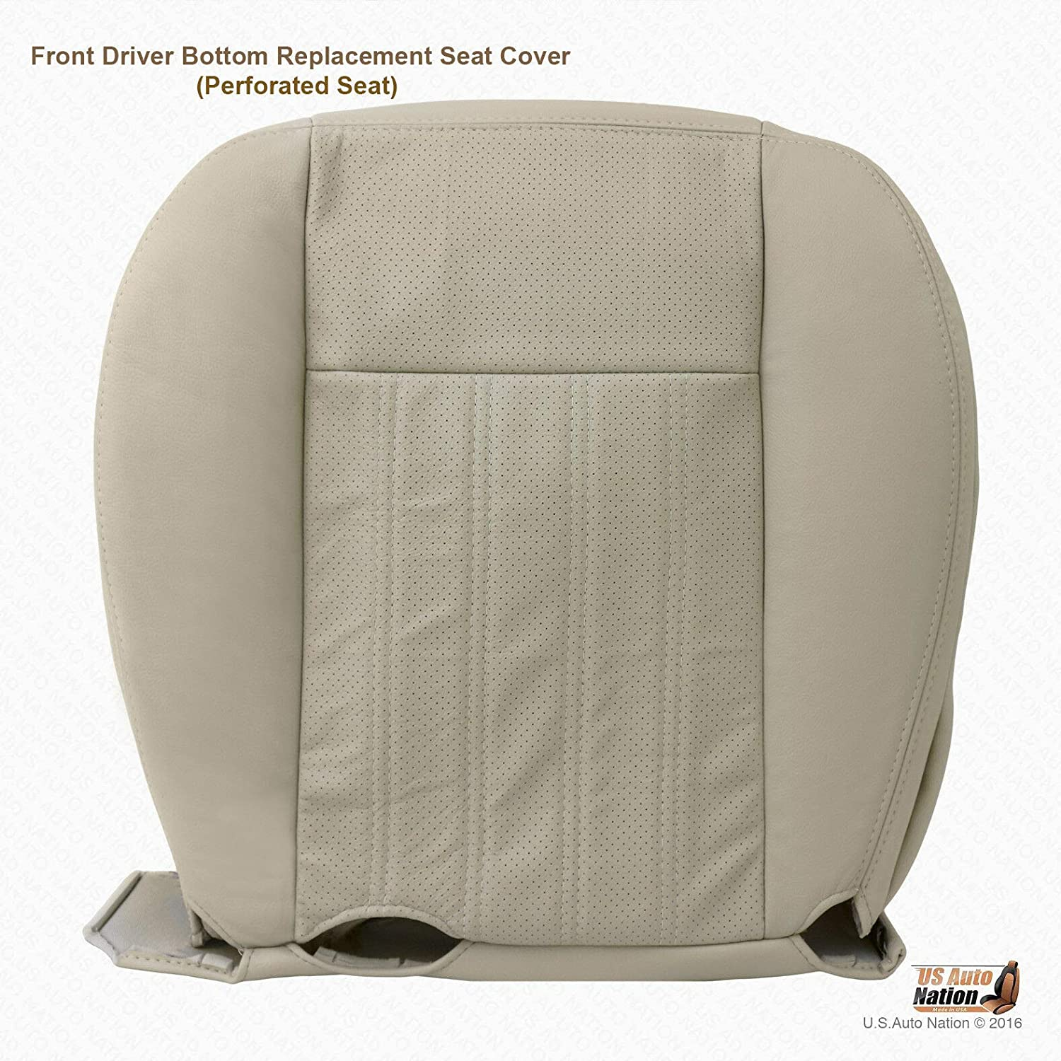 1998 Lincoln Navigator Passenger Side Bottom Replacement LEATHER Seat Cover TAN