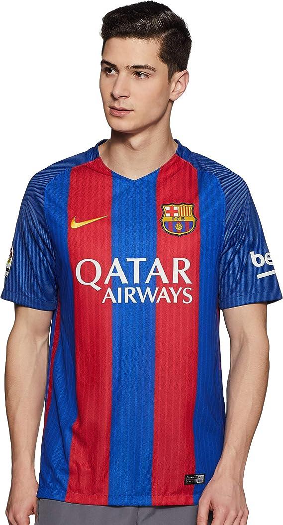 estanque Persuasivo Resaltar  Nike FC Barcelona M SS HM Stadium Jsy – Men's Short-Sleeved T-Shirt blue  Azul: Amazon.co.uk: Clothing