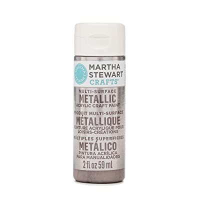 Martha Stewart Crafts Multi-Surface Metallic Craft Rose Chrome