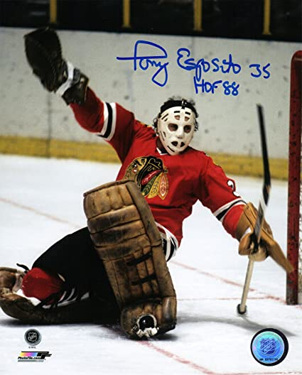 b4ef4a683a8 Image Unavailable. Image not available for. Color  Tony Esposito Signed Chicago  Blackhawks Goalie ...