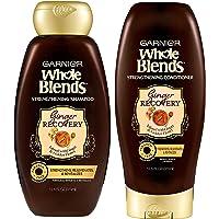 Garnier Whole Blends Haircare - Ginger Recovery - Strengthening Shampoo & Conditioner Set - Net Wt. 12.5 FL OZ (370 mL…