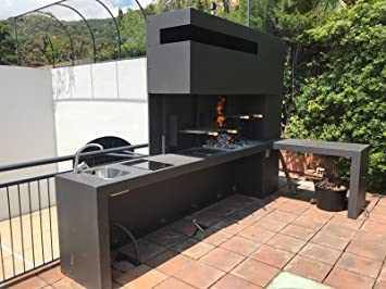 METALIC SOLUTIONS 3000 S.L Barbacoa Dos Parrillas con ...