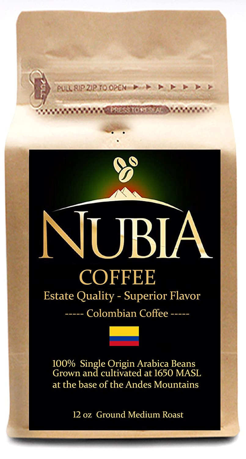 Nubia Coffees - Premium Estate Single Origin Colombian Coffee (12 oz Ground) Image