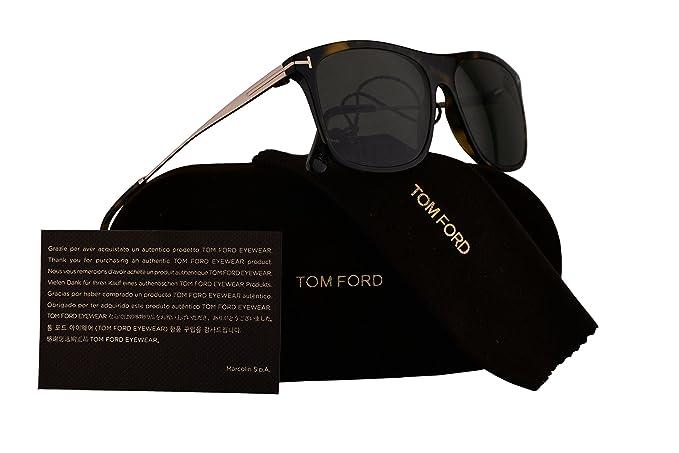 348ec7ab09e Tom Ford FT0588 Max-02 Sunglasses Dark Havana w Polarized Green Lens 52R  TF588