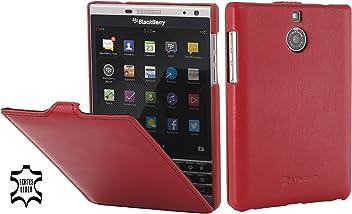 StilGut UltraSlim Case, Custodia in Pelle per Blackberry Passport Silver Edition, Rosso - Nappa