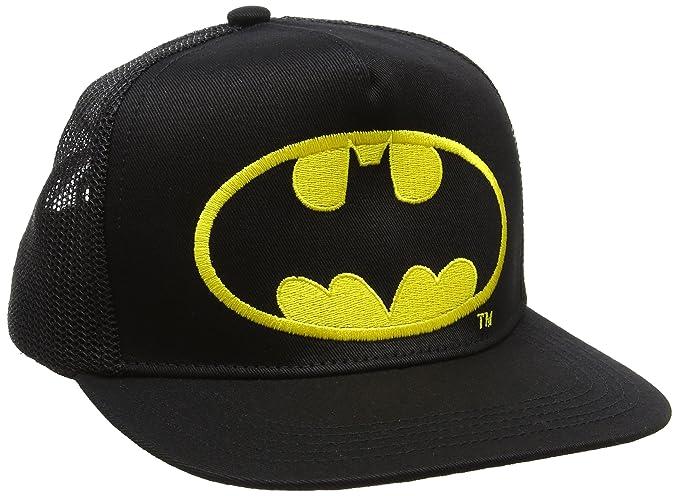 Logoshirt DC Comics - Batman Logo Gorra - Visera para niño - Bordado - Negro - Diseño Original con Licencia: Amazon.es: Ropa y accesorios