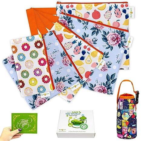 Amazon.com: Bolsas reutilizables para aperitivos y ...