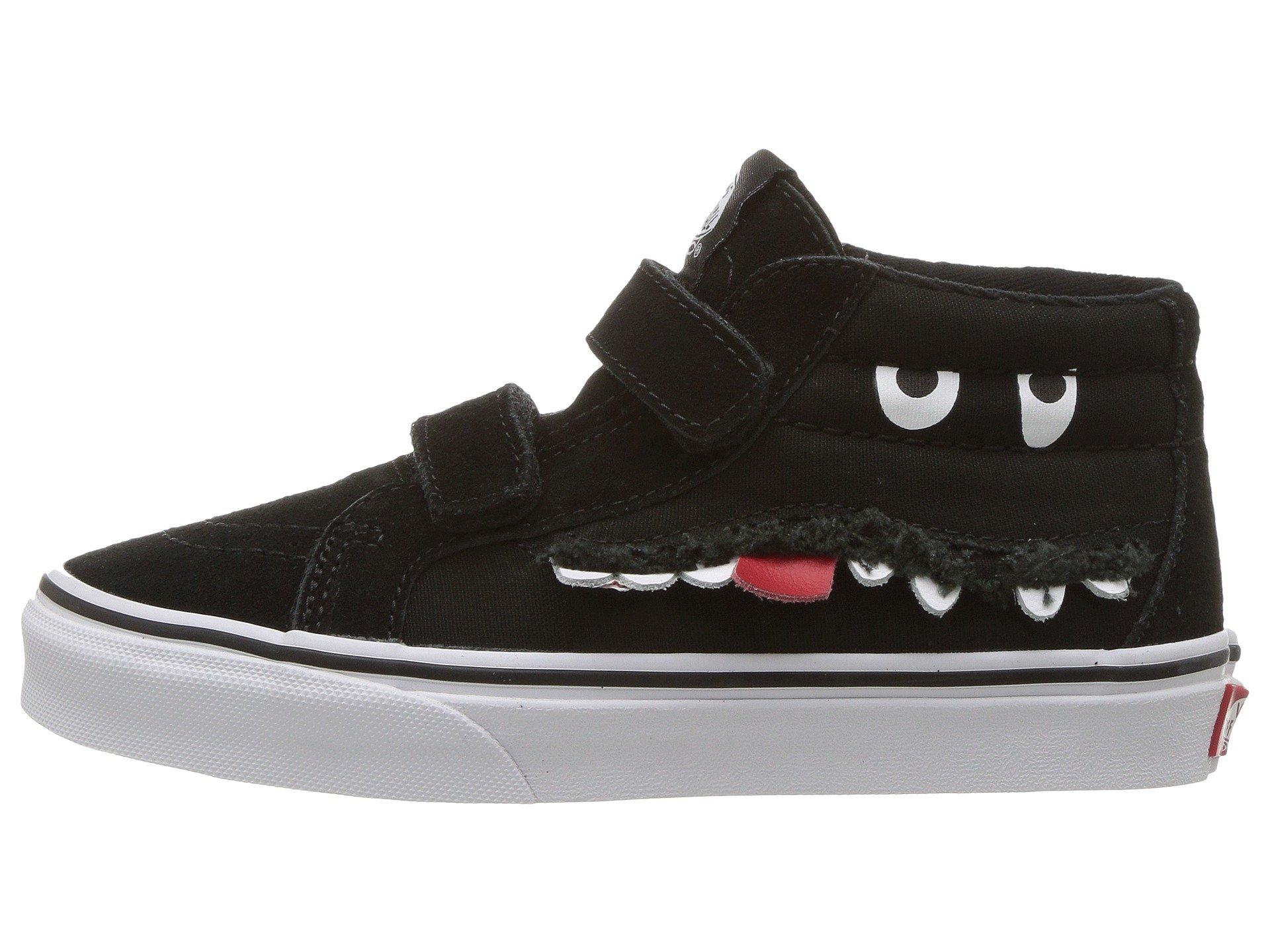 Vans Boy's Sk8 Mid Reissue V Skate Shoes (7 M US Big Kid, (Monster Face) Black/True White)