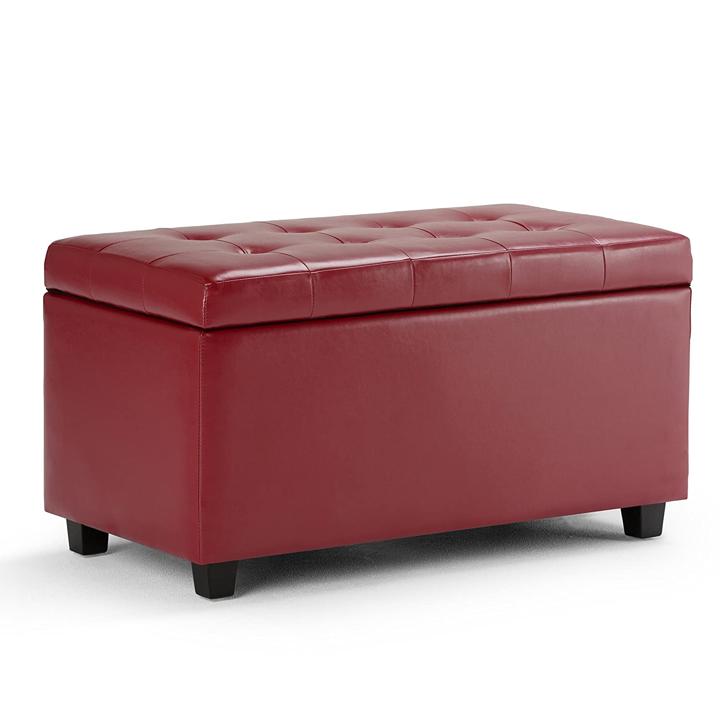 Simpli Home Cosmopolitan Medium Storage Ottoman Bench, Chocolate Brown Ltd. AY-S-38-CBR