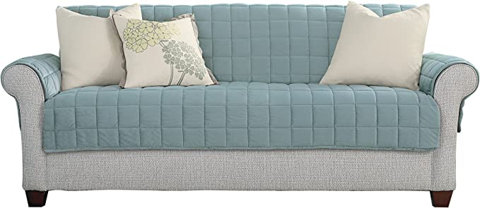 Sure Fit Deluxe Sofa Furniture Cover (with arms) - Mist (SF44725)