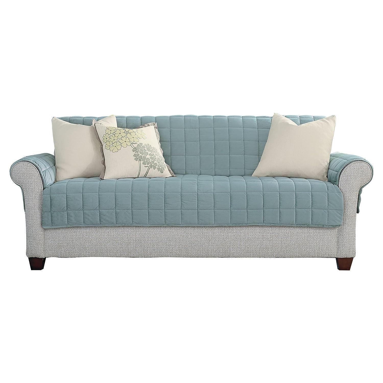 Amazon.com: Sure Fit Funda de sofá, muebles de lujo (con ...