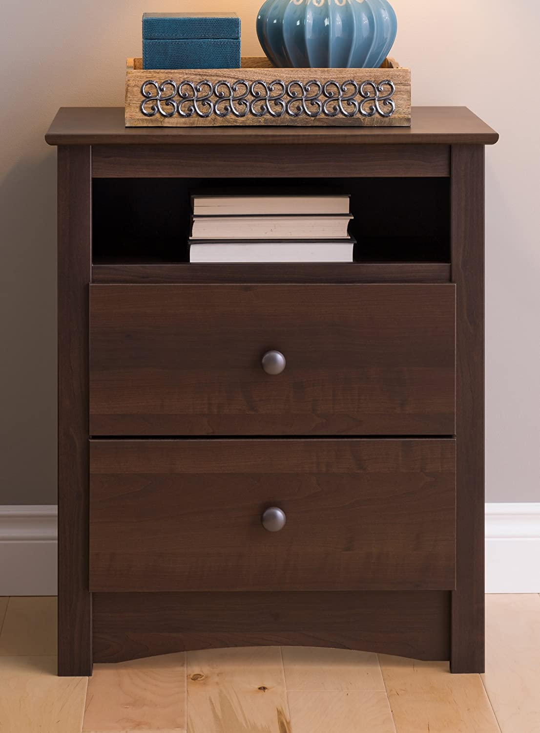 Favorite Amazon.com: Prepac EDC-2428 Fremont 2 Drawer Nightstand with Open  JZ54