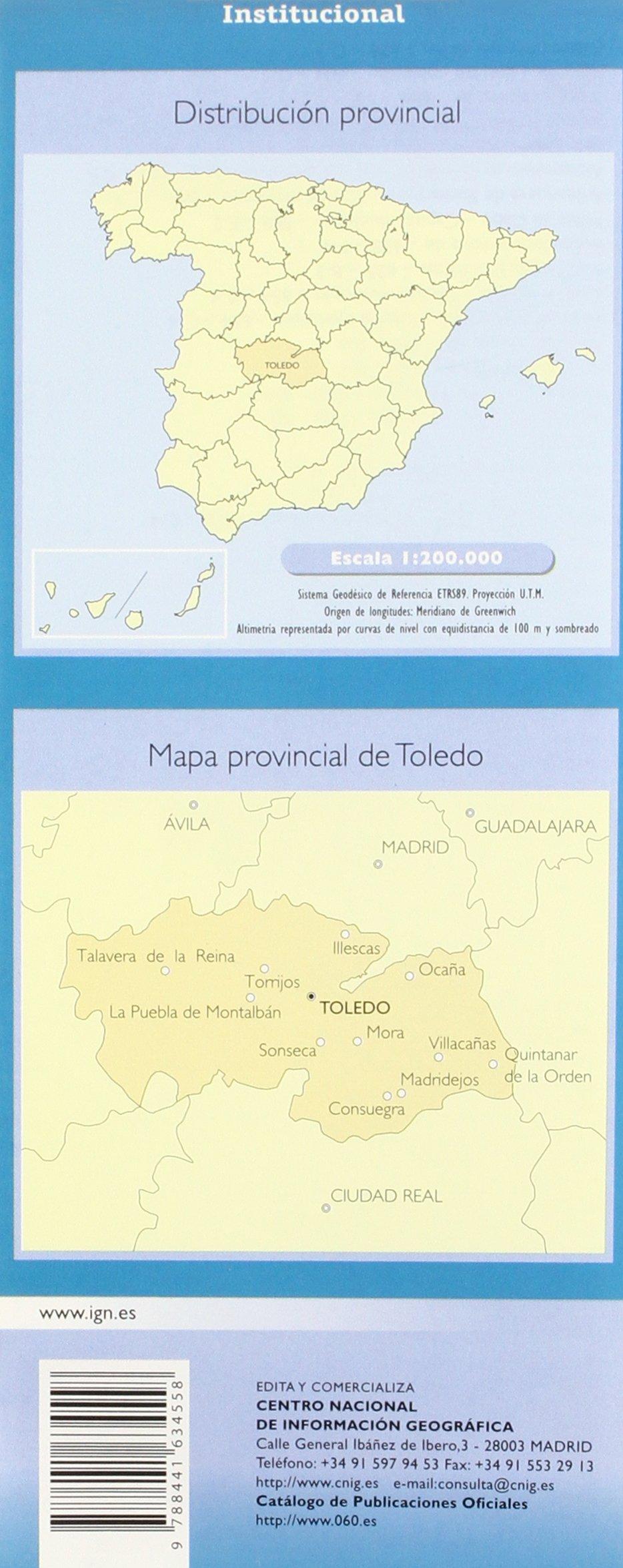 CNIG - Mapa provincial de Toledo, escala 1:200.000, dimensiones 138 x 77 cm: Amazon.es: VV.AA.: Libros