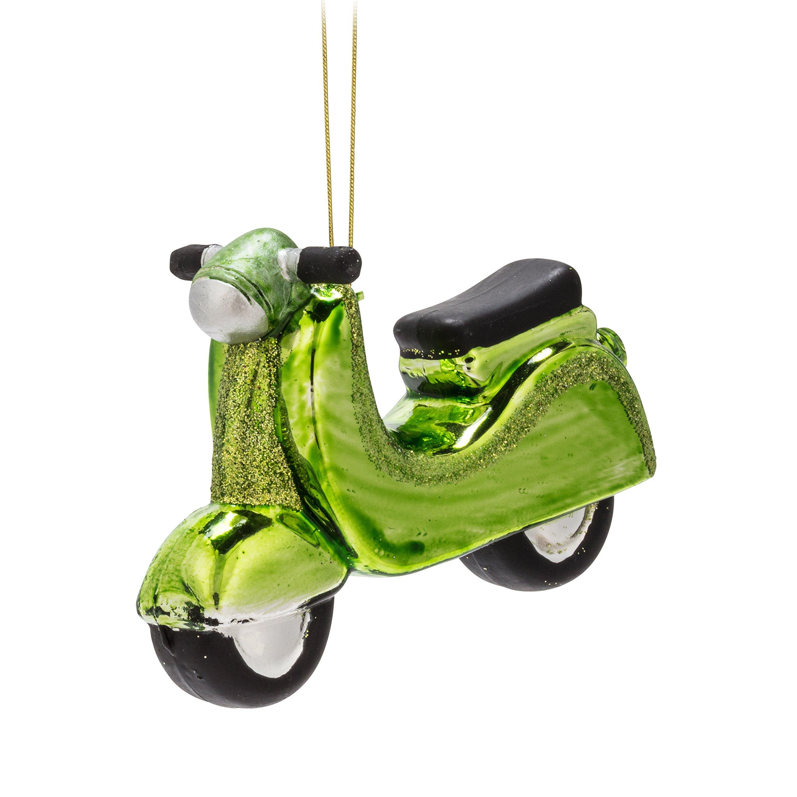 Abbott Collection 15-Season Green Vespa Ornament-4'' L, by Abbott Collection