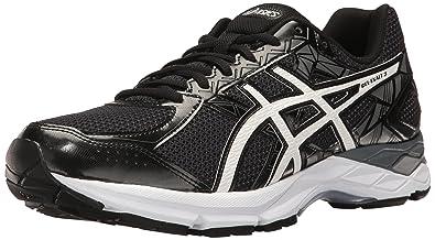 ASICS Men's Gel-Exalt 3 Running Shoe, Black/White/Carbon, 6
