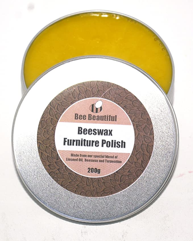 Bee Beautiful Beeswax Furniture Polish with Linseed Oil : 200g