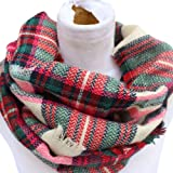 Epic Brand Infinity Scarf Collection for Men and Women | Plaid Tartan Scarves