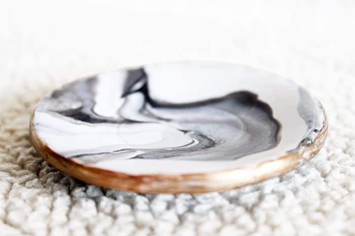 40124c7a5f Amazon.com: Marbled Ring Dish, Ring Holder, Clay Ring Dish, Jewelry ...