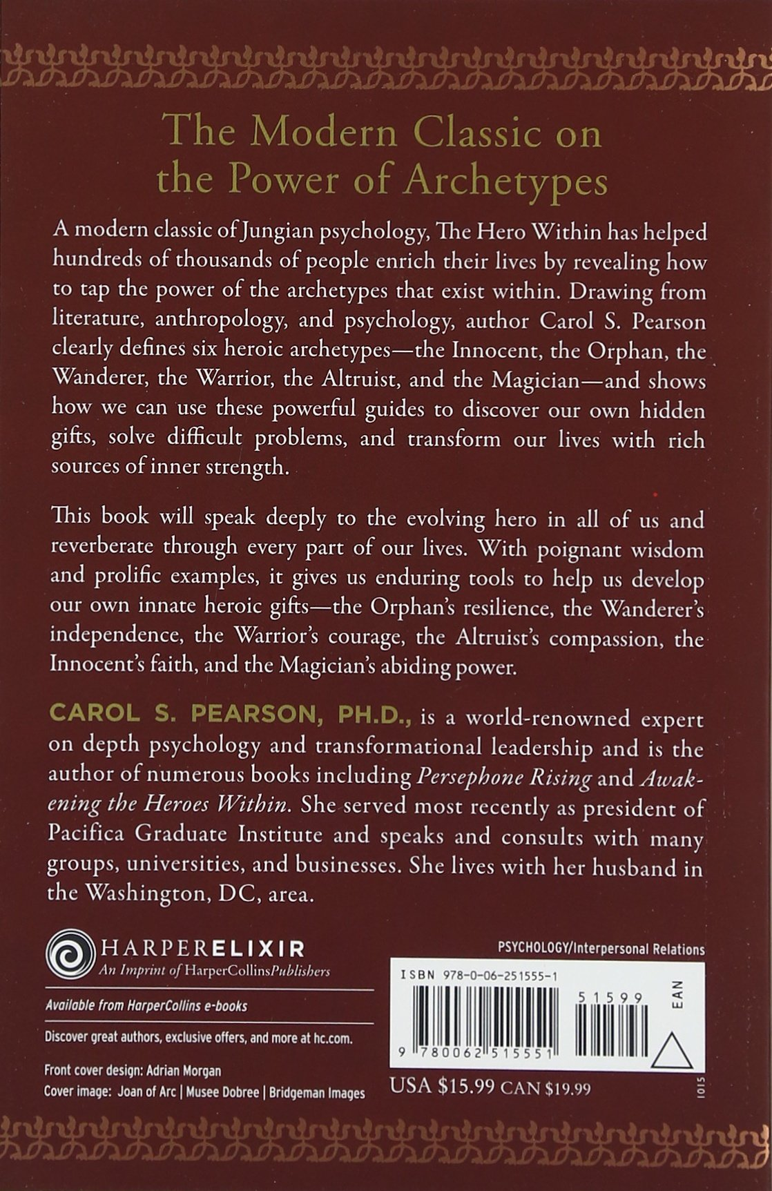 The Hero Within: Six Archetypes We Live By: Carol S Pearson:  9780062515551: Amazon: Books