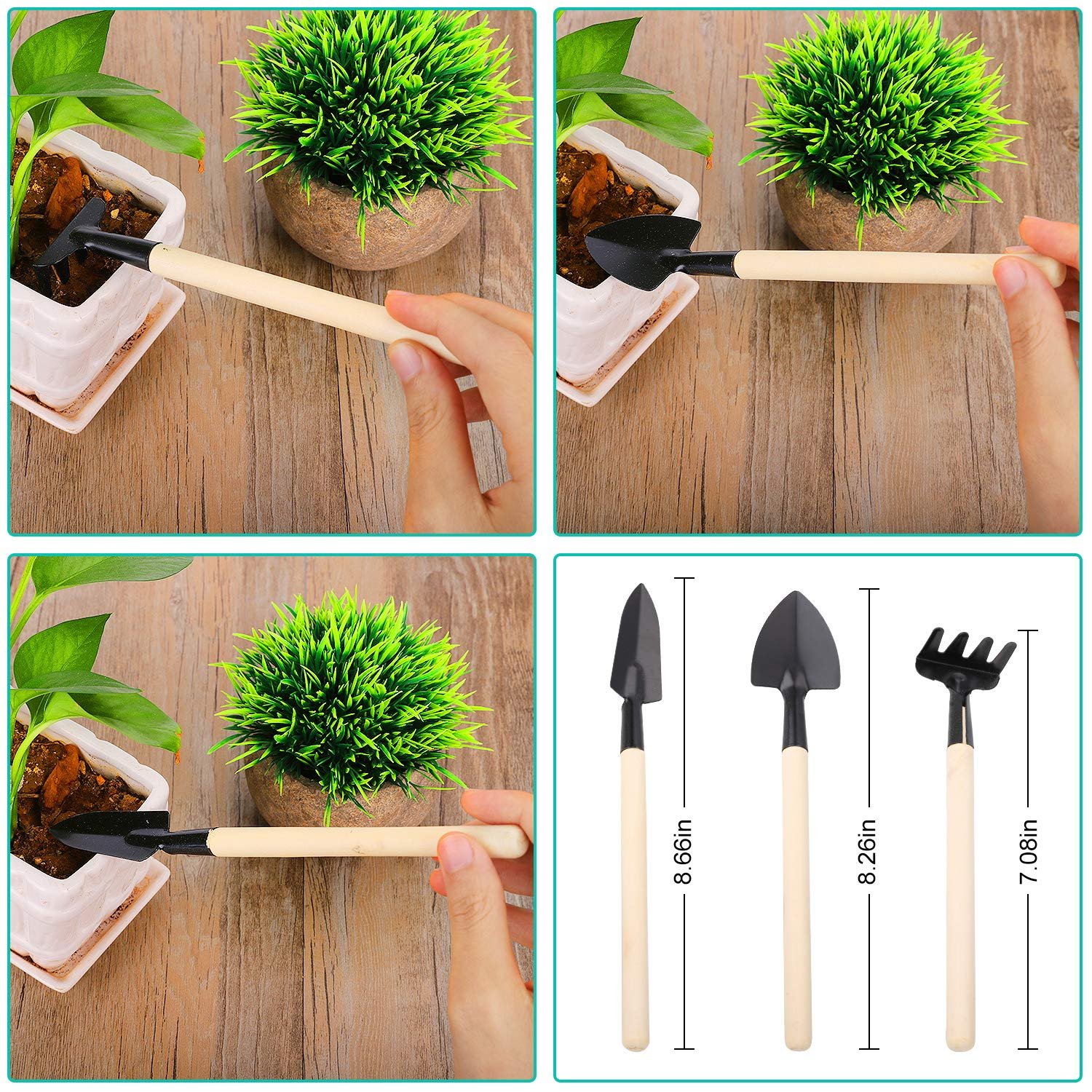3 inch Peat Pots Plant Starter Bonus 30 Pack Plant Markers and 3 Pack Mini Gardening Tool Seeding Starter for Garden Nursery Pots 60 Pack Seed Starter Kit