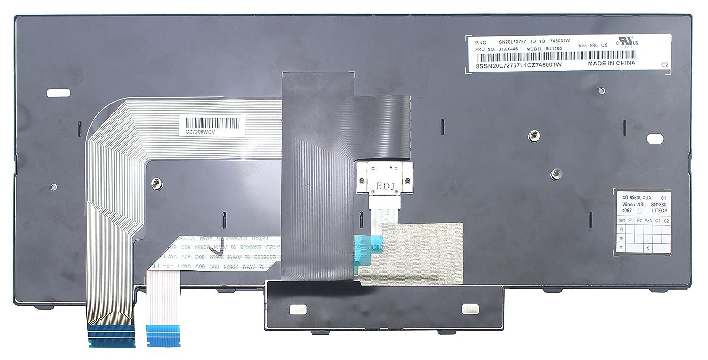 WishingDeals Laptop Non-Backlit Keyboard for Lenovo IBM ThinkPad T470 US Layout Compatible with UK