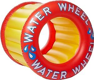Swimline Water Wheel Pool Float, Red/Yellow