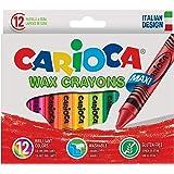 Carioca Jumbo Elleri Kirletmeyen Yıkanabilir Pastel Boya Kalemi 12'Li
