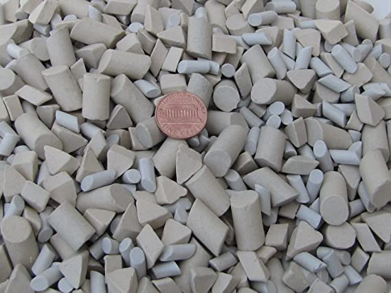 Ceramic Tumbling Media Mixed 3 Lb Cylinder and Triangle Lapidary Abrasive