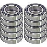 10 Bearing R16-2RS 1 x 2 x 1/2 inch Sealed Ball Bearings