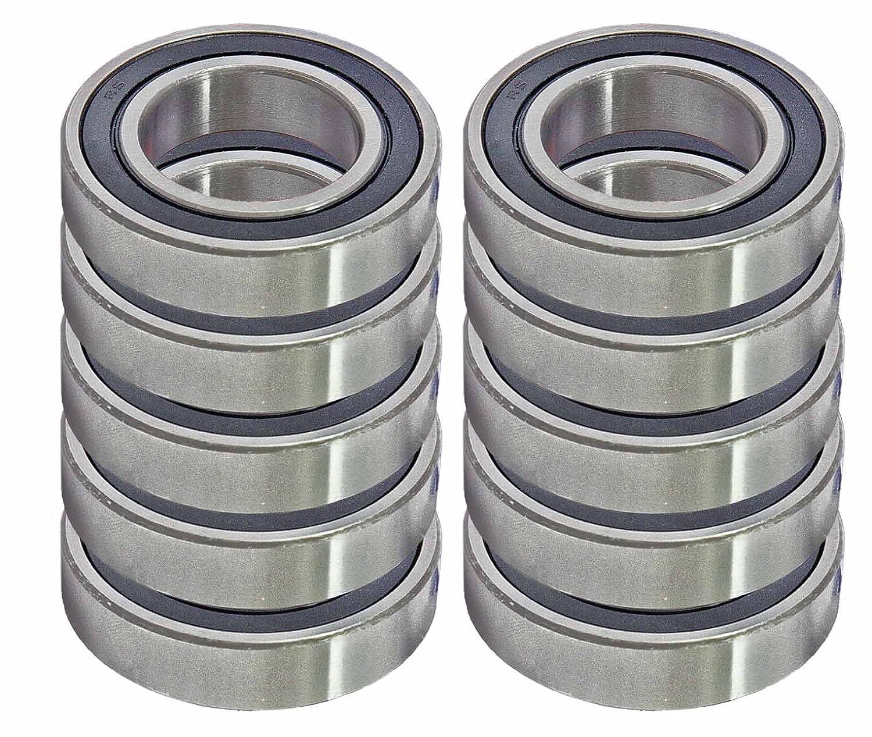 VXB Kit711 10 Sealed Bearing R6-2RS 3/8 x 7/8 x 9/32' Miniature Ball Bearings, VXB Brand