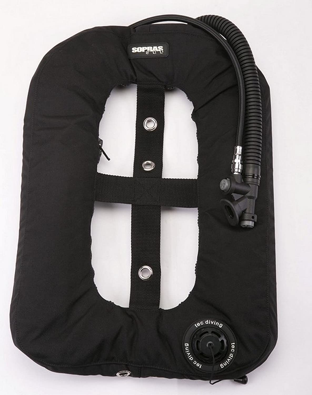 Sopras Tek Tekno Donut BC BCD Bladder { 30 lb 13.3 kg } Light Black Single Tank Wing Underwater Scuba Diving Freediving Spearfishing Gear tech Diving