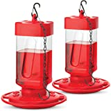 SEWANTA Hummingbird Feeders for Outdoors 32 oz [Set of 2] First Nature Hummingbird Feeder Includes, Perch with 10…