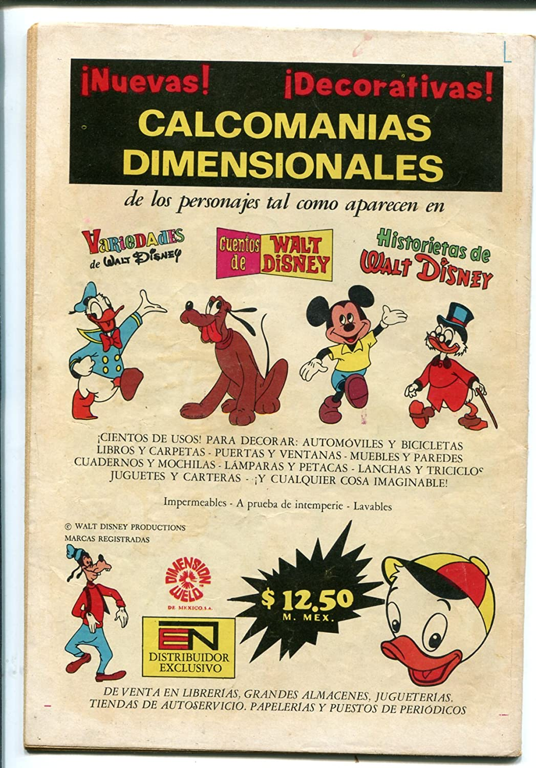 Amazon.com: Clasicos del Cine Zorro-Walt Disney #257-1971-Mexican Edition-VG: Entertainment Collectibles