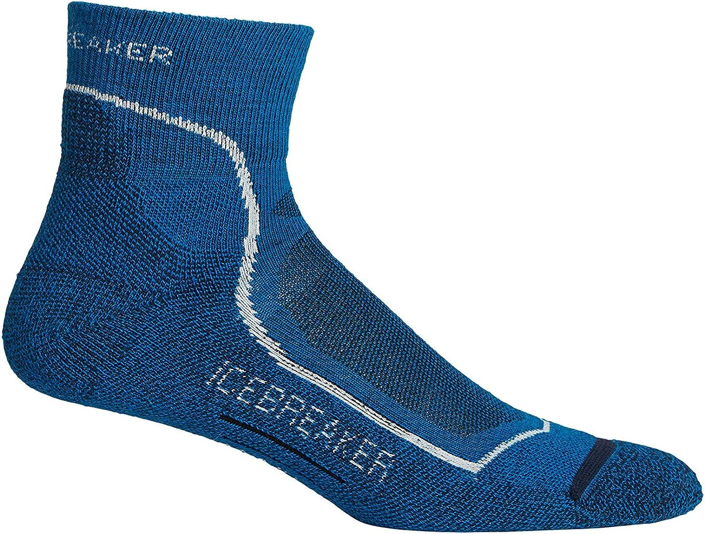 Odor Resistant Icebreaker Merino Mens Hiking Medium Crew Socks Merino Wool Breathable