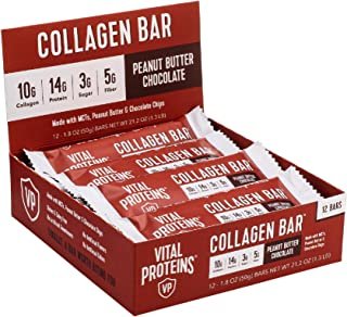 product image for Collagen Protein Bars with MCTs - Vital Proteins Collagen Bars - 16-17g of Protein, 6-8g of Fiber, 4g of Sugar or Less Per Bar (Peanut Butter Chocolate)