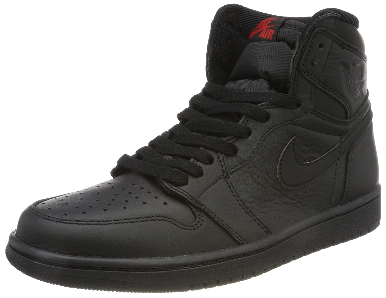 Nike Herren Air Jordan 1 Retro High OG Gymnastikschuhe, Schwarz, Divers  45 EU Schwarz (University Red)