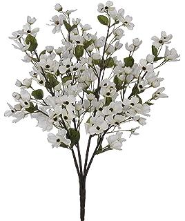 Amazon nearly natural 4687 dogwood silk flower arrangement artificial 24 inch cream dogwood bush set of 6 mightylinksfo Image collections