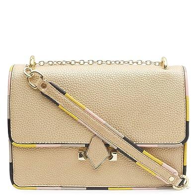 94c87665a Da Milano LB-4358 Gold Genuine Leather Sling Bag  Amazon.in  Shoes    Handbags