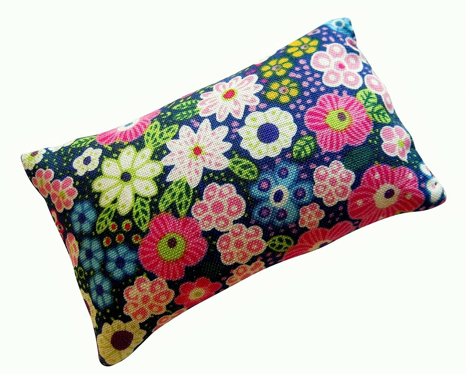 Nakpunar Emery Pincushion - Keep your needles clean and sharp - Filled with Abrasive Emery Mineral - Blue Floral 4337009518