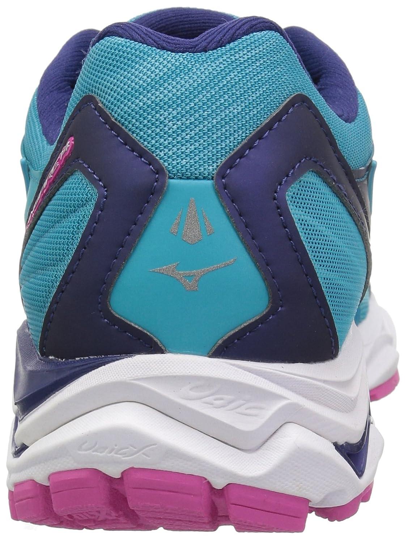 Mizuno Women's Wave Inspire 14 Running Shoe Blue/Fuchsia B076XNS3JN 10.5 M US|Peacock Blue/Fuchsia Shoe Purple 215ad3