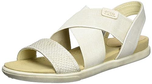 5ea215f7d6f8 ECCO Women s Damara 2-Strap Flat Sandal  Amazon.com.au  Fashion