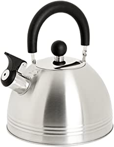 Mr. Coffee 91408.02 Carterton 1.5 Quart Stainless Steel Whistling Tea Kettle, Silver